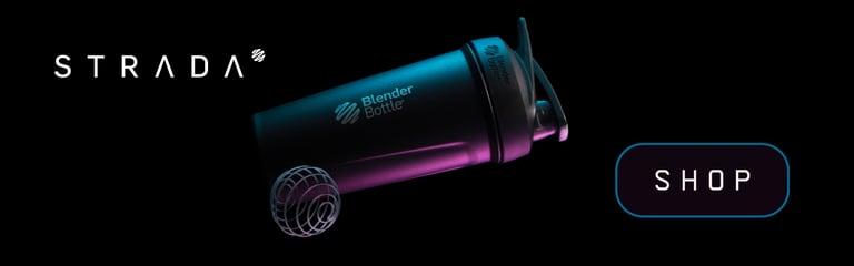 Strada Insulated Stainless Steel Shaker Bottle Black