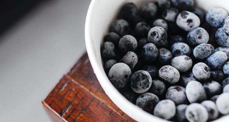 frozen blueberry snack